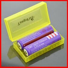 3pcs(Yellow) Battery Storage Case for 18650 or CR123A/18350/16340 Battery
