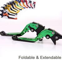 Folding&Extending Brake Clutch Levers For Kawasaki Z750 2004-2006 2005 titanium