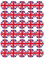 UK England Flags Edible Cupcake Toppers Wafer Paper Fairy Cake Topper
