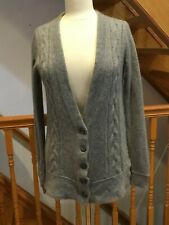 CLUB MONACO  100% Cashmere Button Front Gray cardigan  SIZE M