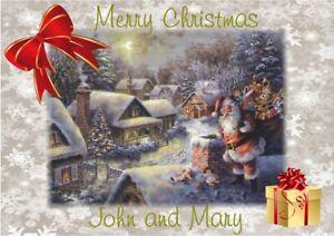 Personalised Christmas Card Santa Father Christmas any name/relation