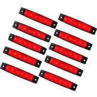 10x 12V SMD 6 LED Red Rear Side Marker Light Position for Truck Trailer Lorry