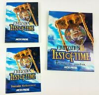 Civilization II Test of Time Guide Manual Terrain Reference & Poster 1st Edition