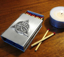 Triquetra Stainless Steel Match Box Cover, beautiful for rituals or as a gift!
