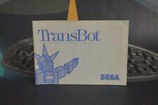 Manuel De Emploi Transbot (Master Système Ms 1987 )Aucun Game