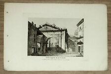 ROMA: PORTICO DI OTTAVIA.ITALIA.INC/ACC.ITALIA.1849..!