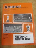 25/04/1972 Arsenal v Manchester United  (folded, team changes, score on front).