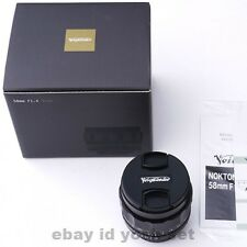 Voigtlander NOKTON 58mm F1.4 SL II N For Nikon F FROM JAPAN