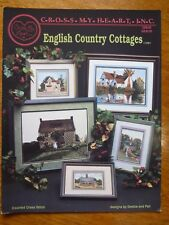 CROSS MY HEART INC-CROSS STITCH PATTERN LEAFLET CSB-66 -ENGLISH COUNTRY COTTAGES
