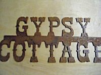 FREE SHIPPING Rustic Rusted Metal Gypsy Cottage Sign Wall Hanging