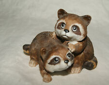Homco Two Little Raccoons Figurine #1454