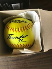 "7 Dudley Thunder Sy Asa .44-375 12"" Softball - Total of 7 New Balls Sealed"