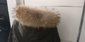 Pelzstreifen Raccoon Fuchs Streifen Fellstreifen Kragen Jacke Natur Kapuze