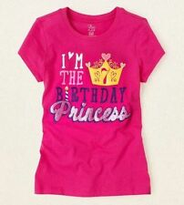 7th Birthday 7 Years Girls Graphic Shirt 8 Medium Gift Pink Princess SS
