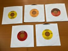 5 Vintage Vinyl Records 45's Bobby Vinton, Elvis Presley, Dean Martin, Tammy Wyn