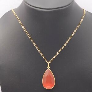 """Monalisa Gold Plated Necklace Pendant Chain 22"""" Gemstone Jewelry T5421"""