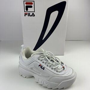 FILA DISRUPTOR II White Shoes Sneakers FW01655-111 Size 2