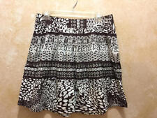 WRAPPER Brand Brown and White Print A Line Skirt Junior's Size 9 CUTE