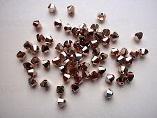 10 Swarovski® Kristall Perlen Xilion Beads 6mm CRYSTAL ROSE GOLD2x Art. 5328