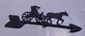 """Vintage Aluminum Weather Vane Horse & Buggy  USED 17 1/2"""""""