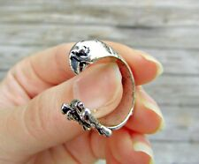 Parrot Ring - Adjustable Wrap - Silver Gold Black Mary Poppins Animal Jewelry
