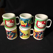 Children's Cups With Handles Thick Girls & Boys Storybook Characters Set Of 6