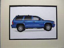1998 Dodge Durango SLT SUV  artist art Auto Museum Full color  Illustrated
