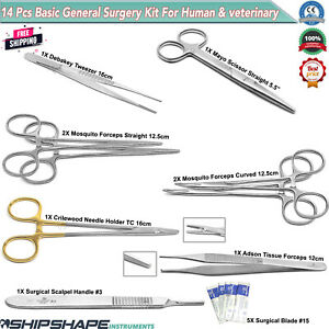 Veterinary General Surgery Instruments Stitch Up, Ovaries Removal Surgical Kit