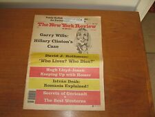 1992 New York Review Hillary Clinton, Romania, Homer, Cullen, Roth, Westerns