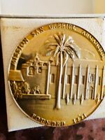 Medallic Art Co Catholic Ca Mission San Gabriel Bronze Medallion Near Mint