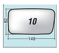 Vetro specchio retrovisore Fiat Cinquecento '91 sinistro cromato curvo 10S