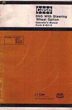 CASE DAVIS DH5 TRENCHER OPERATOR'S  MANUAL 9-8210 w/STEERING WHEEL OPTION