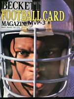 (1) BECKETT FOOTBALL PRICE GUIDE MAGAZINE PREMIERE ISSUE #1 ~BO JACKSON/RAIDERS
