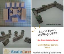 STONE Town Walling Mould - Model Railway Scenery DT43 - NEW RELEASE