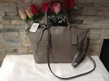 NWT. COACH PEBBLE LEATHER SMALL KELSEY CROSS-BODY HANDBAG FOG F26917