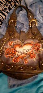 isabella fiore leather Heart handbag