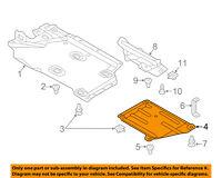 AUDI OEM TT Quattro Under Engine Cover Splash Shield-Rear Shield Right 8S8825208