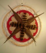 """32"""" Willow Hoop - bird tail -  Dream catcher - Art Wall hanging"""