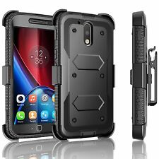Hybrid Shockproof Holster Clip Kickstand Case Cover for LG LV3 / MS210 / Aristo