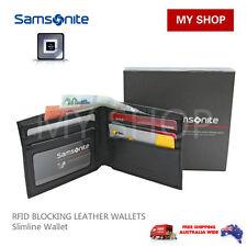 Samsonite RFID Blocking Leather Slimline Wallet 67T002 RRP$59.95 BLACK