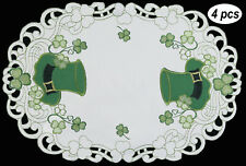 Creative Linens St Patrick's Day Shamrock Clover Placemats Table Cloth Runner