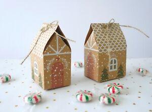 Christmas Gift Boxes, Cute XMAS House, Macaron, Chocolate Box, Cookies Box