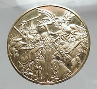 1981 Christian Proof Gilt Silver Medal - The TEMPTATION of ST ANTHONY  i63544