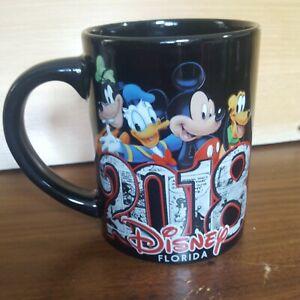 Disney Florida 2018 Jerry Leigh Black Ceramic 12 oz Coffee Mug Disneyworld EUC