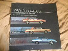 1983 Oldsmobile Cutlass Supreme  Full Line Color Brochure Catalog  Prospekt