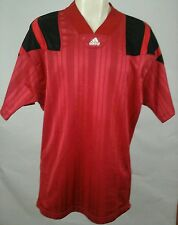 VINTAGE ADIDAS EQUIPMENT SHIRT JERSEY RED MENS SIZE LARGE L - RARE MADE USA