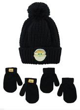 Mandalorian Baby Yoda Toddler Size Beanie Hat w/ 2 Pairs of Mittens NWT