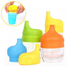 Leak Proof Food Grade Silicone Kids Baby Sippy Lids - Make Most Cups a Sippy Cup