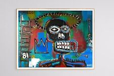 Original Painting Abstract Outsider Art Signed Dated 11x14 Basquait Style