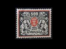 Germany 1923 500 Mk grey / red Freie Stadt Danzig Free City of Danzig Centred